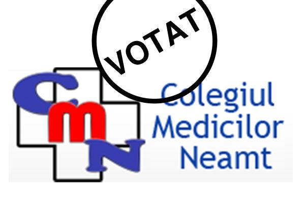 Alegeri pentru organele de conducere ale Colegiului Medicilor Neamț